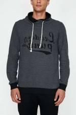 Erkek Gri Yazılı Baskılı Sweatshirt 9KAM71129LK