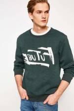 Erkek Yeşil Desenli Sweatshirt 8KAM74077OK