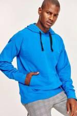 Saks Basic Erkek Oversize Sweatshirt - KapüşonluTMNAW19GS0114